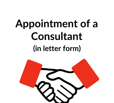 Appointment of a Consultant Contract Letter Template