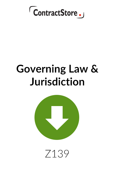 Governing Law & Jurisdiction – Free Document